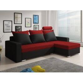 Smartshop Rohová sedačka MONDEO 5, červená/černá