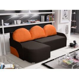 Smartshop Rohová sedačka KRIS 2 levá, hnědá/oranžová