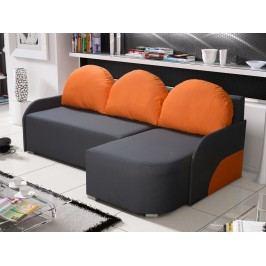 Rohová sedačka KRIS 4 pravá, šedá/oranžová