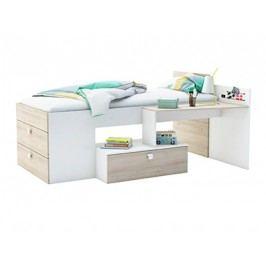 DEMEYERE MOWE postel 90x200 cm, bílá/akát