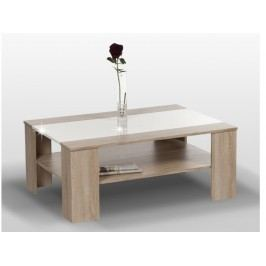 ARIADNA konferenční stolek, dub sonoma/bílý lesk