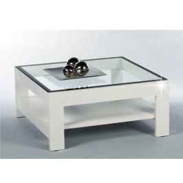 ATTAC konferenční stolek, bílý lesk/sklo