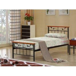 Tempo Kondela MORENA kovová postel s roštem 90x200 cm, třešeň