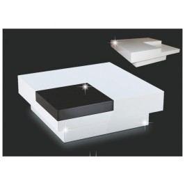 ELIOT konferenční stolek, bílý lesk/černý lesk