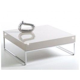 BOTTI konferenční stolek, chrom/bílý lesk