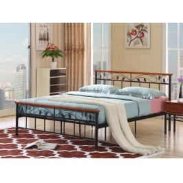 Tempo Kondela MORENA kovová postel s roštem 160x200 cm, třešeň