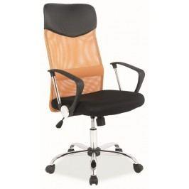 Kancelářská židle Q-025 oranžová/černá