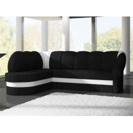 ELTAP Rohová sedačka BENANO 021 levá, černá látka/bílá ekokůže