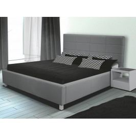 Čalouněná postel LUBNICE IX 180 M195 - šedá
