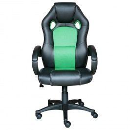 Idea Kancelářské křeslo FORMULA černá/zelená