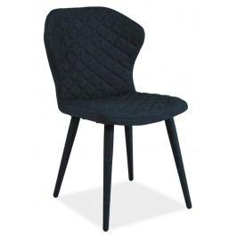 Jídelní čalouněná židle LOGAN, modrá