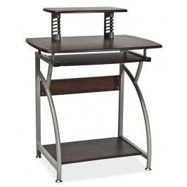 Smartshop PC stůl B-07, tmavě hnědá/kov