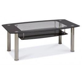 Konferenční stolek TWIST C černá polička. sklo/kov