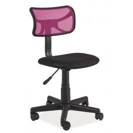 Smartshop Kancelářská židle Q-014, růžová/černá