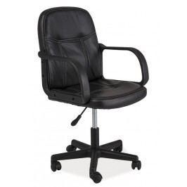 Kancelářské křeslo Q-074 černá ekokůže