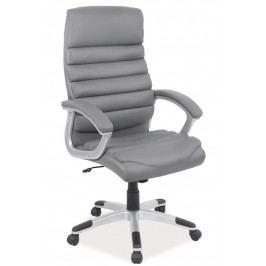 Smartshop Kancelářské křeslo Q-087 - šedá ekokůže