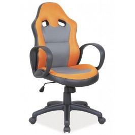 Smartshop Kancelářské křeslo Q-054 oranžová/šedá