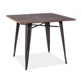 Jídelní stůl ALMIR, ořech/šedá