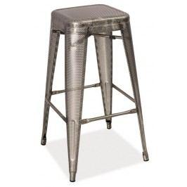 Smartshop Barová kovová židle LONG, ocel perforovaná