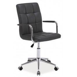 Smartshop Kancelářská židle Q-022 šedá ekokůže