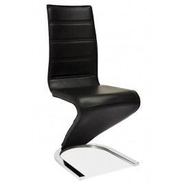Jídelní čalouněná židle H-669, černá/bílá