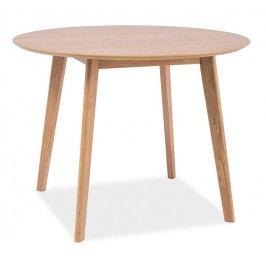 Smartshop Jídelní stůl kulatý MOSSO II, dub