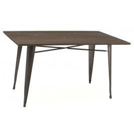 Smartshop Jídelní stůl ALMIR 140, ořech/šedá
