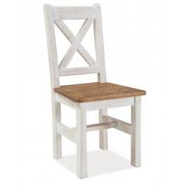 Židle Poprad, masiv v barvě ořech/bělená borovice