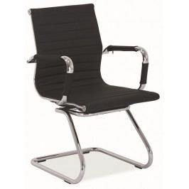 Smartshop Kancelářská židle Q-123 černá ekokůže
