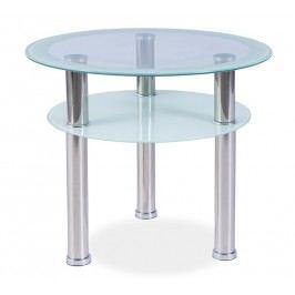 Smartshop Konferenční stolek PURIO D, kov/sklo