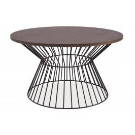 Konferenční stolek ALTA, ořech/černá