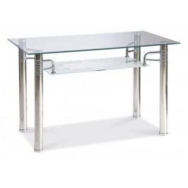 Smartshop Jídelní stůl RENI A 120x65, kov/sklo