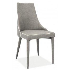Smartshop Jídelní čalouněná židle SOREN šedá látka