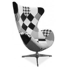 Smartshop Čalouněné křeslo DIXON B, patchwork-černá/bílá
