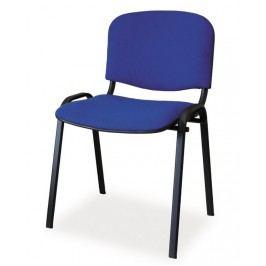Čalouněná židle ISO, černá/modrá