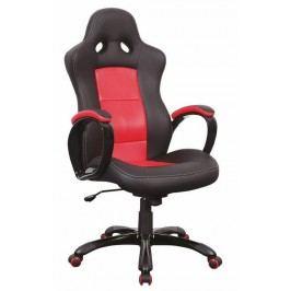 Smartshop Kancelářské křeslo Q-029, černá a červená ekokůže