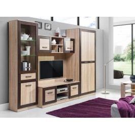 BOSS obývací stěna - sestava 2, dub sonoma/dub čokoládový