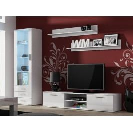 CAMA SOHO, obývací pokoj - sestava 1, bílý mat/bílý lesk
