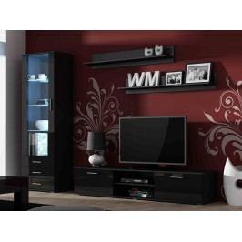 CAMA SOHO, obývací pokoj - sestava 1, černý mat/černý lesk