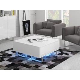 MORAVIA FLAT KING 8 konferenční stolek, bílá/bílý lesk