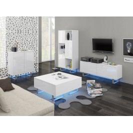 KING obývací pokoj - sestava 1, bílá/bílý lesk