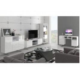 KING obývací pokoj - sestava 2, bílá/bílý lesk