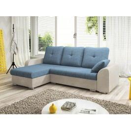 Smartshop Rohová sedačka DARLA 2-251 levá, modrá látka/béžová látka