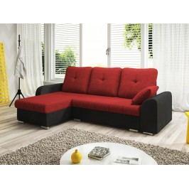 Smartshop Rohová sedačka DARLA 3-251 levá, červená látka/černá látka
