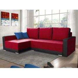 Smartshop Rohová sedačka EDEN 1 levá, červená látka/černá ekokůže