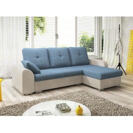Smartshop Rohová sedačka DARLA 2-251 pravá, modrá látka/béžová látka