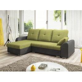 Smartshop Rohová sedačka DARLA 1-251 levá, zelená látka/šedá látka