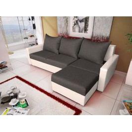 Smartshop Rohová sedačka MALAGA BIS 6, grafitová látka/bílá ekokůže