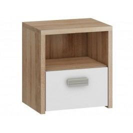 KITTY, noční stolek KIT-12, barva: dub sonoma/bílá