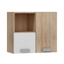MORAVIA FLAT SOLO,závěsná skříňka SOL-08P, dub sonoma/bílý lesk